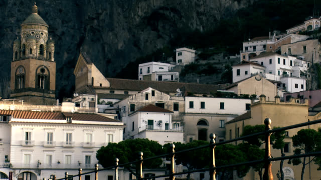 Amalfi town at sunrise