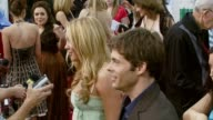 Amanda Bynes and James Marsden at the 'Hairspray' Los Angeles Premiere at the Mann Village Theatre in Westwood California on July 10 2007