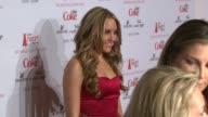 Amanda Bynes at the MercedesBenz Fashion Week Fall 2009 Heart Truth's Red Dress Collection Backstage at New York NY