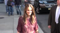 Amanda Peet arrives at the Late Show Celebrity Sightings in New York on March 13 2012 in New York New York