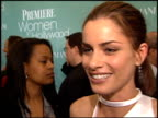 Amanda Peet at the Women in Hollywood Luncheon at the Four Seasons Hotel in Beverly Hills California on October 11 2000