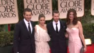 Amanda Peet David Benioff and DB Weiss at 69th Annual Golden Globe Awards Arrivals on January 15 2012 in Beverly Hills California
