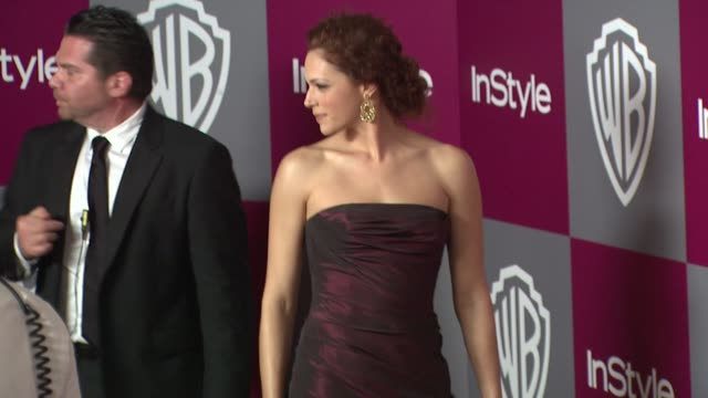 Amanda Righetti at the 2011 InStyle/Warner Brothers Golden Globe Awards Party at Beverly Hills CA