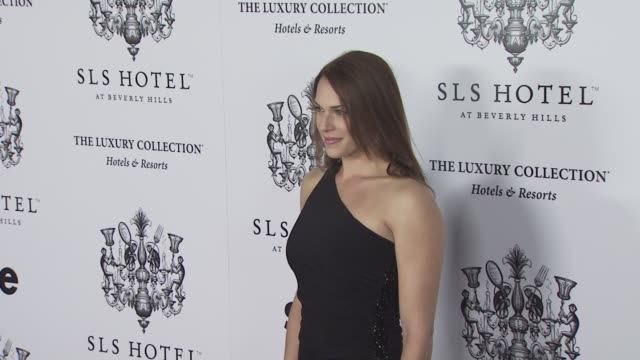 Amanda Righetti at the Opening of SBE's SLS Hotel at Los Angeles CA