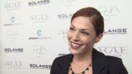 Amanda Righetti on her dress on tonight's event on Children's Institute Inc on the fashion show on her favorite fall fashions on her least favorite...