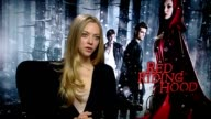 Amanda Seyfried on how it's easier to be in every frame of a movie at the Red Riding Hood Interviews at London England