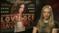 INTERVIEW Amanda Seyfried on making the right decision taking the role at 'Lovelace' interview on August 22 2013 in London England