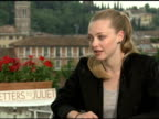 Amanda Seyfried on why she wanted to be a part of the film and on working on location in Italy at the 'Letters To Juliet' Junket at Verona