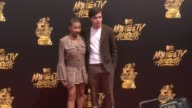 Amandla Stenberg and Nick Robinson at the 2017 MTV Movie TV Awards Red Carpet Arrivalson May 07 2017 in Los Angeles California