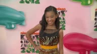 Amandla Stenberg at Nickelodeon's 25th Annual Kids' Choice Awards on 3/31/2012 in Los Angeles CA