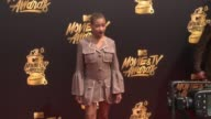 Amandla Stenberg at the 2017 MTV Movie TV Awards Red Carpet Arrivals on May 07 2017 in Los Angeles California