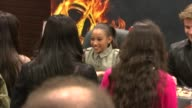 Amandla Stenberg Liam Hemsworth at Barnes Noble Celebrates The Hunger Games Los Angeles Release on 3/22/12 in Los Angeles CA