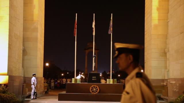 MS Amar Jawan Jyoti in India gate at night / Delhi, Delhi, India