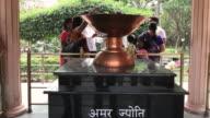 MS Amar Jyoti (the Eternal Flame) commemorating martyrs of historic massacre during Indian freedom struggle, Jalianwala Bagh / Amritsar, Punjab, India