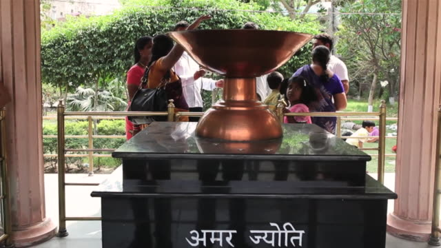 MS Amar Jyoti (the Eternal Flame) commemorating martyrs of historic massacre during Indian freedom struggle, Jalianwala Bagh / Amritsar, Punjab, India