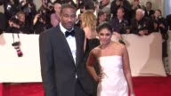 Amar'e Stoudemire and Rachel Roy at the 'Alexander McQueen Savage Beauty' Costume Institute Gala At The Metropolitan Museum Of Art at New York NY
