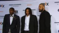Amare Stoudemire Chris Copeland and Tyson Chandler at EPIX Premiere Of Amare Stoudemire IN THE MOMENT at Marquee on April 18 2013 in New York New York