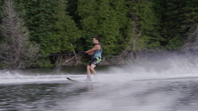 Amateur Teenage Slalom Waterskiing Waterskier