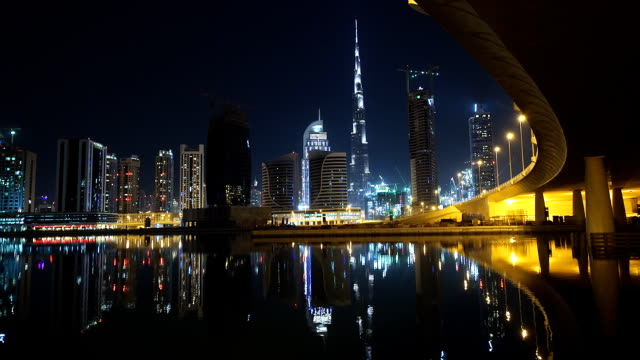 Amazing Dubai night scene