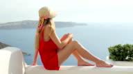 Herrliche Aussicht auf Santorini