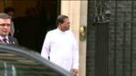 Ambassador to Brazil to face war crimes charges LIB 1032015 London Downing Street Maithripala Sirisena leaving Number 10