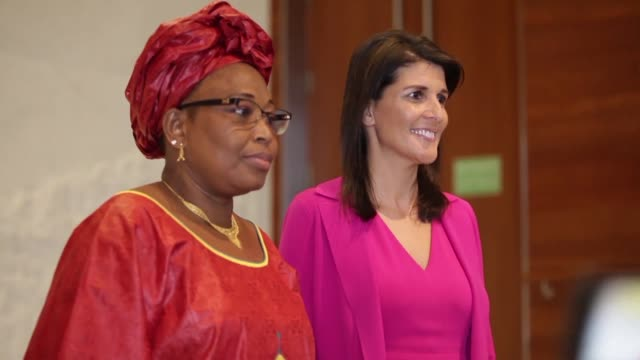 US Ambassador to the UN Nikki Haley calls for peace in South Sudan during a visit to Ethiopia the first stop on her on her official visit to Africa