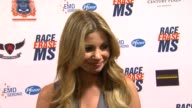 Amber Lancaster on being a part of the night and supporting Race to Erase MS at the The 18th Annual Race To Erase MS CoChaired By Nancy Davis And...
