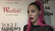 Amber Le Bon on meeting her boyfriend Johnny Hynes at Vogue Fashion Night Out at Westfield on September 06 2012 in London England