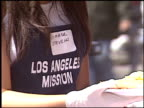 amber stevens at the Homeless Easter at Los Angeles Mission on March 25 2005