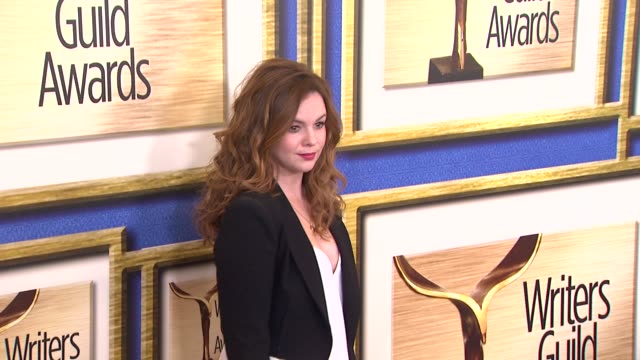 Amber Tamblyn at 2014 Writers Guild Awards Arrivals at JW Marriott Los Angeles at LA LIVE on in Los Angeles California