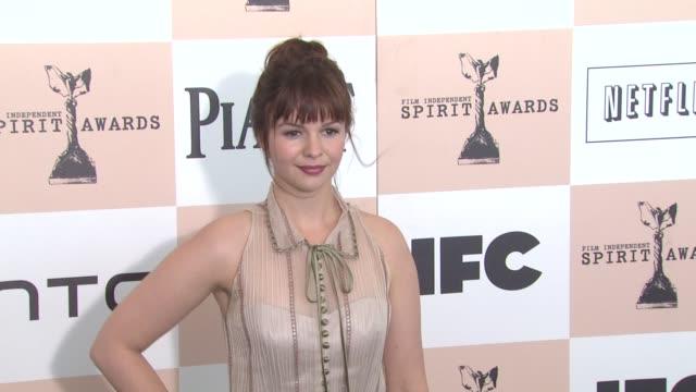 Amber Tamblyn at the 2011 Independent Spirit Awards Arrivals Part 2 at Santa Monica CA