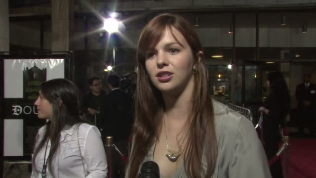 Amber Tamblyn on the importance of voting her expectations for 'Doubt' at the DOUBT premiere at Los Angeles CA