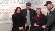 Amber Tamblyn Timothy Hutton Hilary Brougher and Jim Gaffigan on the premise of the movie at the 2006 Sundance Film Festival Wireimage Video Studio...