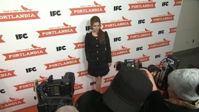 Amber Tamblynat PORTLANDIA Screening Hosted by IFC Red Carpet New York NY United States 1/5/2012