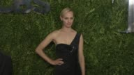 Amber Valletta at Tony Awards Red Carpet Arrivals at Radio City Music Hall on June 07 2015 in New York City