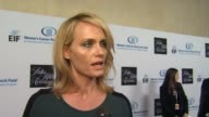 Amber Valletta on what brings her out tonight why she's chosen to get involved in the fight against women's cancer and if she has a personal...