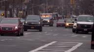 Ambulance Coming Up a Manhattan Avenue