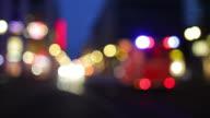 Ambulance Night Scene with Bokeh Lights