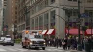 MS PAN Ambulance on busy street / New York City, New York, USA