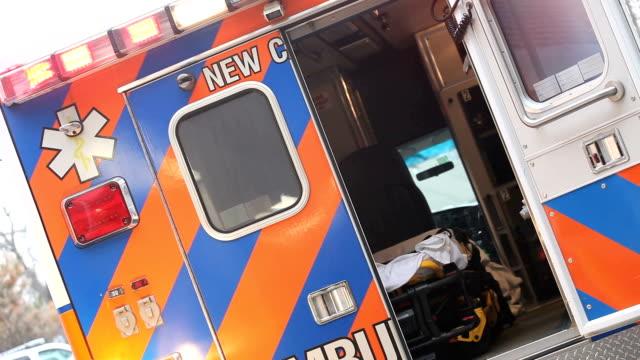 Ambulance with flashing lights--dutch