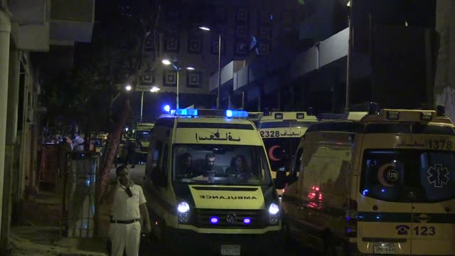 Ambulances carrying the bodies of the victims of the Russian airliner that crashed in Egypts Sinai Peninsula left the Zeinhom Morgue in Cairo on...