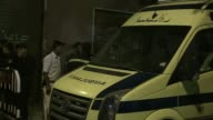 Ambulances carrying the bodies of victims of the Russian airliner that crashed in Hassana a mountainous area of Egypts Sinai Peninsula arrived at the...