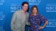 America Ferrera Ben Feldman at NBC Universal Networks Upfronts 2017 at Radio City Music Hall on May 15 2017 in New York City