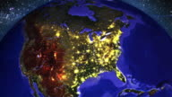 America in Lights at Night
