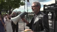 American Actor Jeff Goldblum at Circular Quay on April 26 2017 in Sydney Australia Jeff Goldblum was in town to do 'research' for an upcoming role...