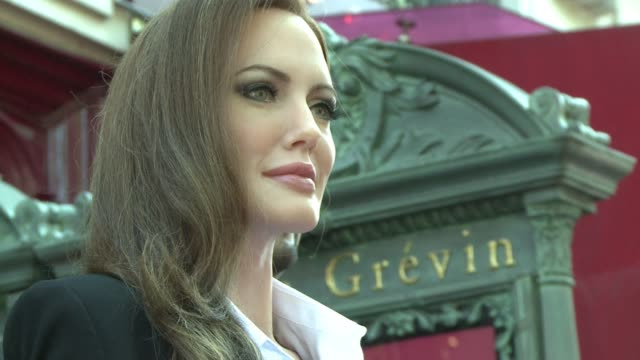 American actress Angelina Jolie joined Brad Pitt and George Clooney at the Musee Grevin in Paris on Thursday as their latest waxwork figure