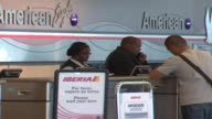 WGN American Airlines Check In Counter on October 02 2012 in Chicago Illinois