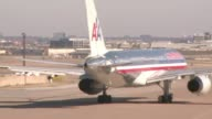 KDAF American Airlines Plane Driving On Tarmac on December 20 2011 in Dallas Texas