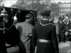 American Ambassador Whitney goes to Buckingham Palace ENGLAND London Grosvenor Square American Embassy EXT John Hay Whitney and Major General Sir Guy...