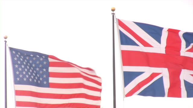 American and Great Britain Flags